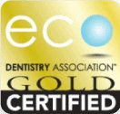 eco dentistry association gold certified logo